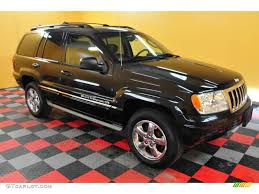 2004 brillant black crystal pearl jeep grand cherokee overland 4x4