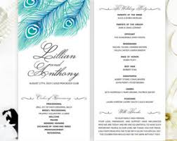 cheap ceremony programs cheap programs etsy