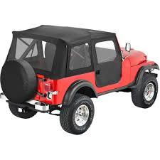 jeep soft top black bestop soft top new black jeep cj5 willys 1955 1958 51595 01 ebay