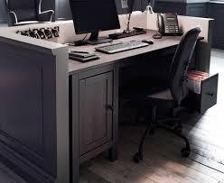 Ikea Reception Desk Hemnes Schreibtisch In Schwarzbraun Mit Lillhöjden Drehstuhl In