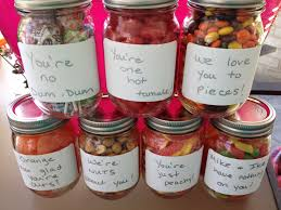 perfect gift for dad candy in mason jars with cute sayings diy