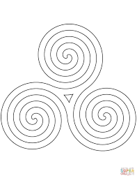 celtic spiral pattern coloring page free printable coloring pages