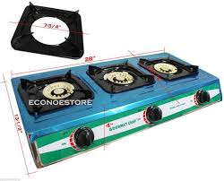 Propane Gas Cooktop Stainless Triple Burner Stove Outdoor Range Grill Portable Propane