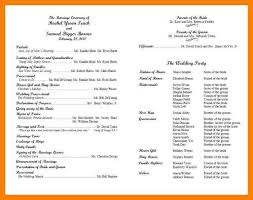 wedding programs wording exle wedding programs jcmanagement co