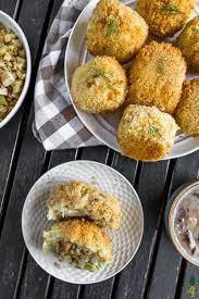 stuffed mashed potato balls vegan