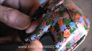 making of decorative papier mache craft in kashmir youtube