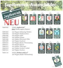 Wappen Baden Jagdbetrieb Autoschilder Pferd Hund Jagd