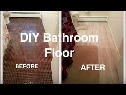 Low Budget Bathroom Makeover - diy bathroom floor makeover on a low budget youtube