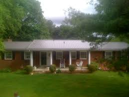 Ranch Home Style Brick House Metal Roof Dream House Pinterest Metal Roof