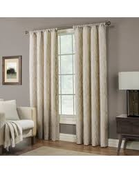 95 Inch Curtain Panels Bargains On Pinehurst 95 Inch Rod Pocket Window Curtain Panel In Linen