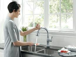 delta touch2o kitchen faucet delta touch faucet plush design ideas touch on kitchen faucet