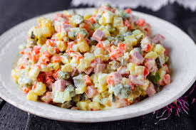 olivier cuisine olivier salad food stock image image of russia