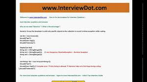 java interview question and answer what is generics in java youtube