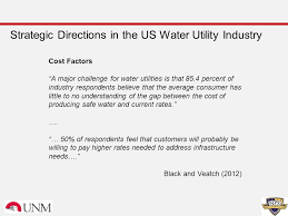 Water Challenge Directions Water Rates And Affordability Revisited J M Chermak J K Hansen