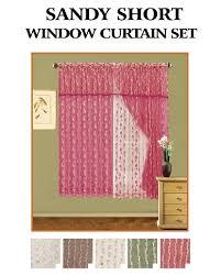 window curtains short