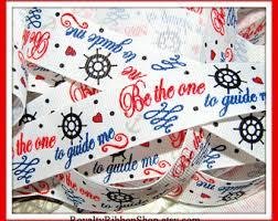 Nautical Themed Ribbon - ocean themed ribbon etsy