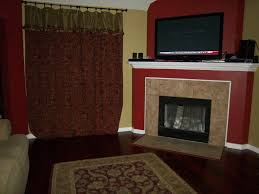 fireplace fair living room decoration using red fireplace paint