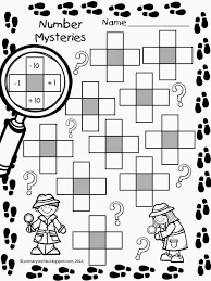 math freebie number mysteries for math detectives includes