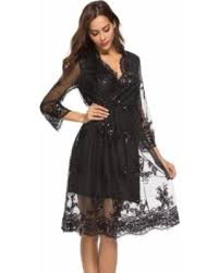 New Holiday Bargains on 2018 V neck long sleeve sequin party dresses