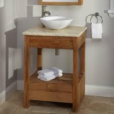 Teak Bathroom Vanity by Natural Wood Vanity Signaturehardwarecom Natural Teak Bathroom