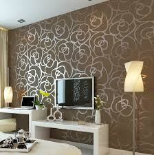 Wallpapers Home Decor Luxury Flocking Textured Wallpaper Modern Wall Paper Roll Home