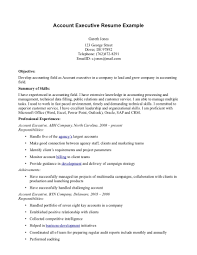 executive resumes exles sle resume format for accounts executive resume for study
