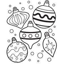 ornament coloring pages to print tags