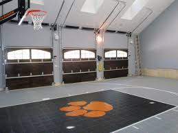 fitting a home basketball court in your backyard sport court with