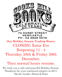 christmas and holiday trading hours for darby street newcastle