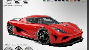 koenigsegg black and red koenigsegg agera configurator launched