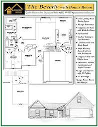 Floor Plans With Bonus Room Beverly With Bonus Room Floor Plan