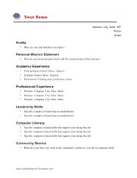 academic resume template academic resume template