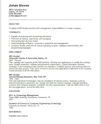 objective for resume management management information systems resume free resumes tips