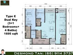 paragon suites floor plans for 3 1 and 3 2 bedroom and dual key