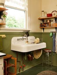 vintage wall hung sink a simple vintage kitchen restoration sinks wall mounted sink and