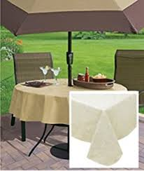 Tablecloth For Umbrella Patio Table Elrene Home Fashions 37686blu Monterey Outdoor Flannel