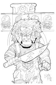 coloring pages chucky doll coloring pages mycoloring free