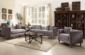 sidonia 53580 sofa in gray velvet by acme w options