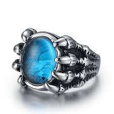 men rings style images Wawfrok fashion stainless steel skull rings women ring silvery jpg