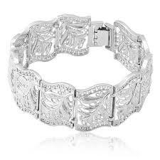 wrap cuff bracelet images Gold color bracelet for women solid hollow flower pattern bracelet jpg