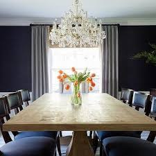 navy blue sisal dining room wallpaper design ideas