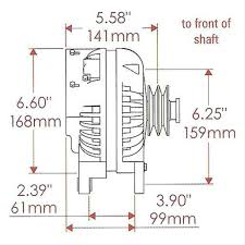 powermaster 90 amp retro chrysler alternator pm7018 ext regulator