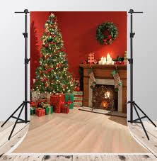 2017 red christmas photo backgrounds 5x7ft gray wood backdrops for