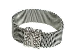 silver mesh bracelet with images Flat mesh bracelet with magnetic clasp erica zap designs jpg