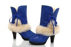 womens ugg high heel boots ugg boots for cheap ugg fur leopard high heeled boots 5108 blue
