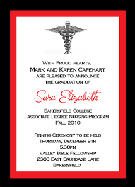 nursing graduation announcements nursing graduation invitation templates dhavalthakur