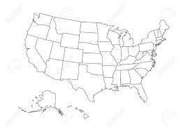 outline map of us clipart free blank outline map of united states of america simplified vector