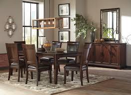 ashley shadyn 7 piece casual dining room set in a warm brown