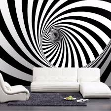 popular artistic wall murals buy cheap artistic wall murals lots custom modern abstract artistic wall mural wallpaper black and white swirl line living room straw non