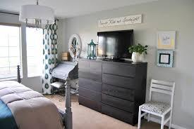 white mirror above dresser vanity decoration